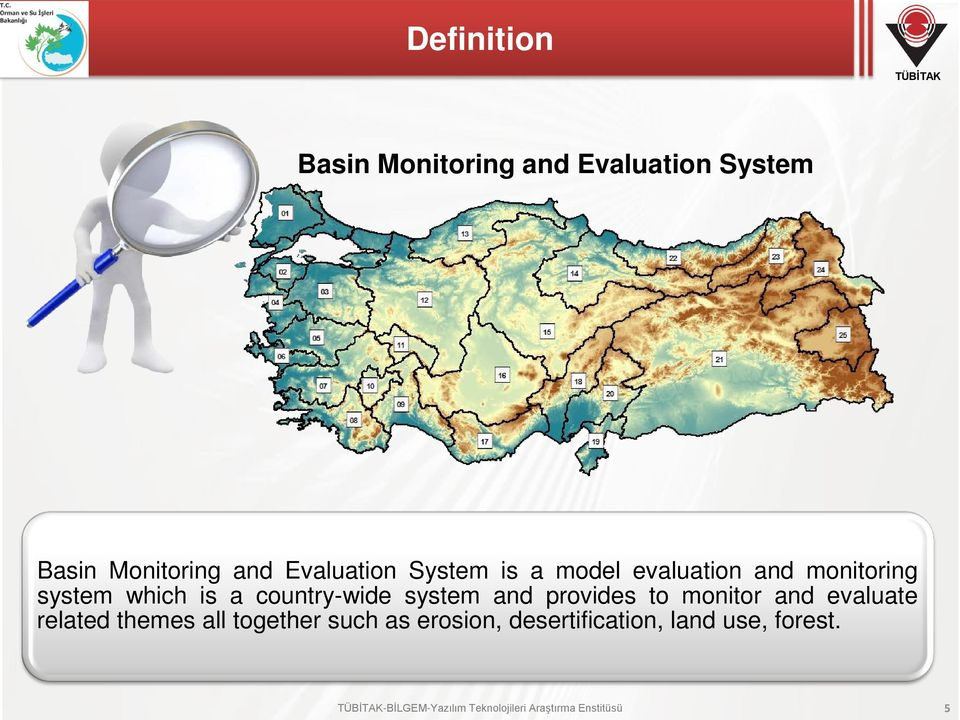 and provides to monitor and evaluate related themes all together such as erosion,