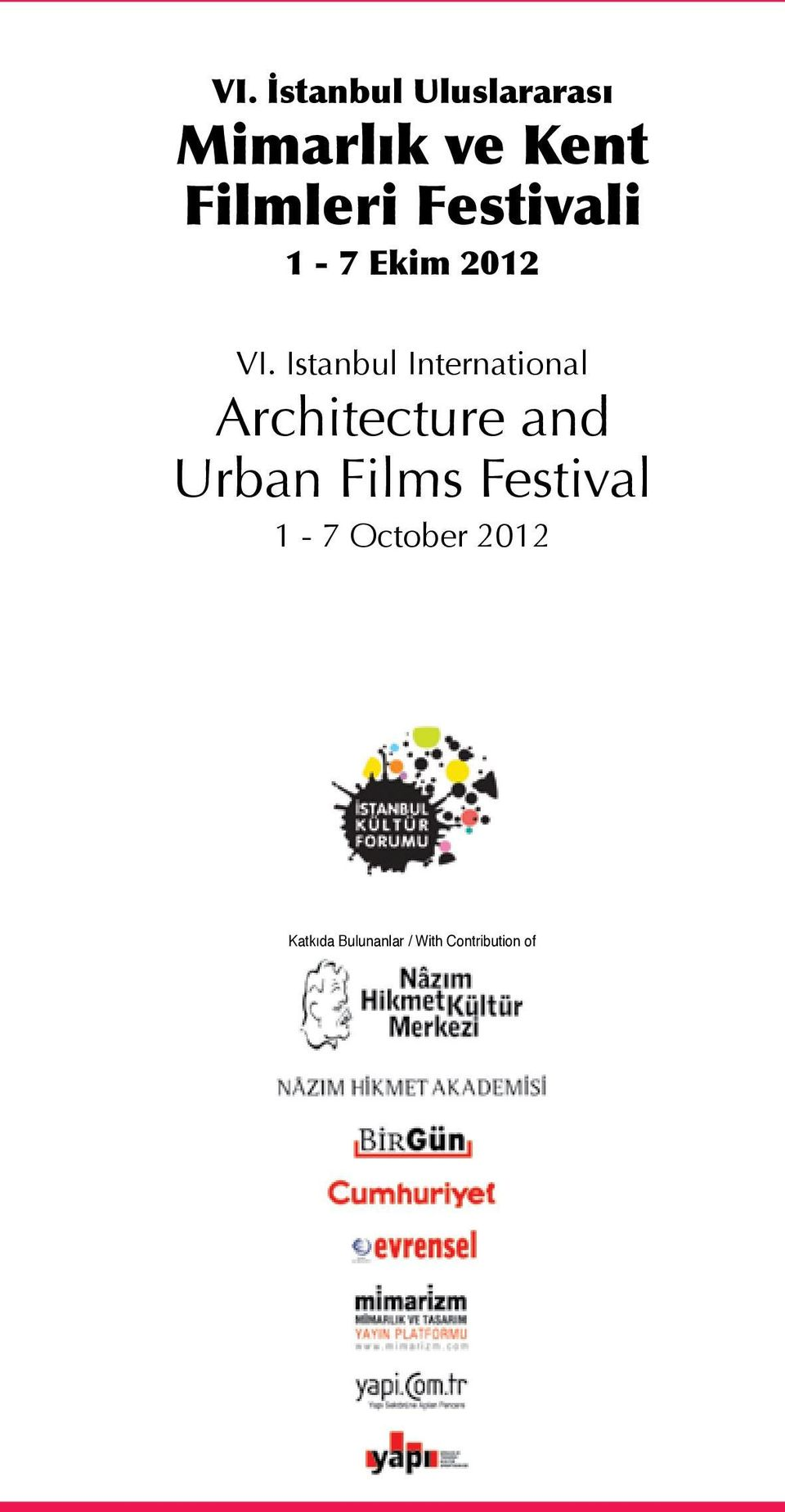 Istanbul International Architecture and Urban Films