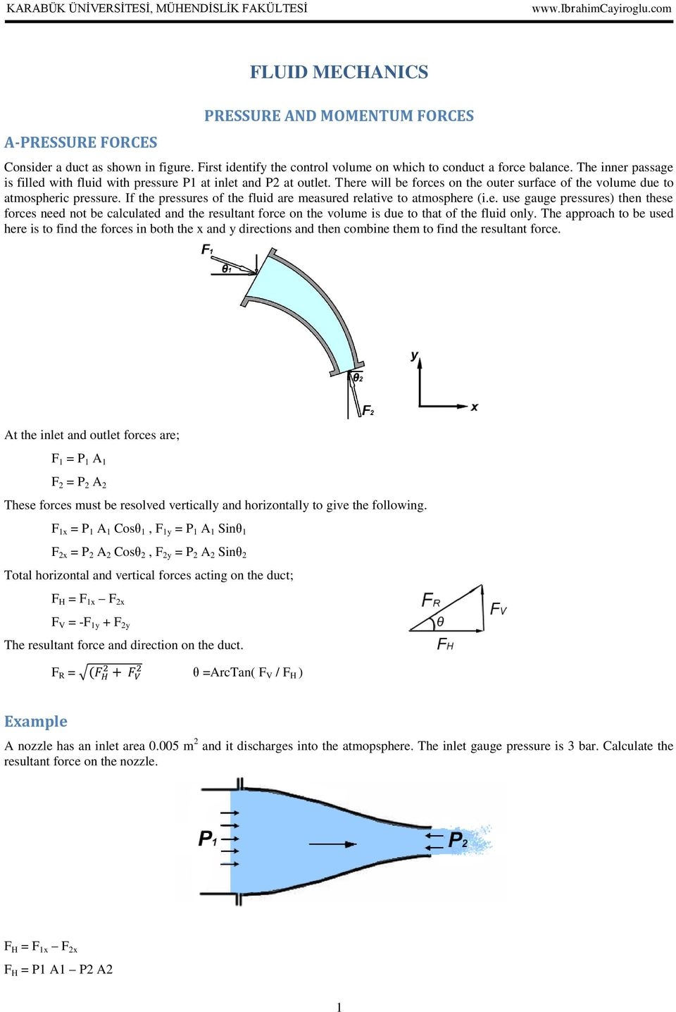 If the pressures of the fluid are measured relative to atmosphere (i.e. use gauge pressures) then these forces need not be calculated and the resultant force on the volume is due to that of the fluid only.
