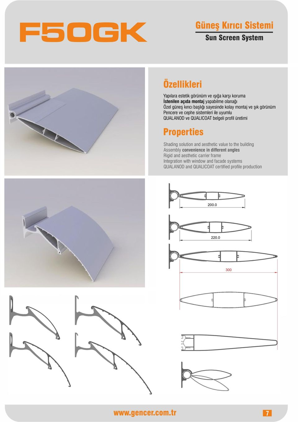 uyumlu Shading solution and aesthetic value to the building Assembly convenience in different