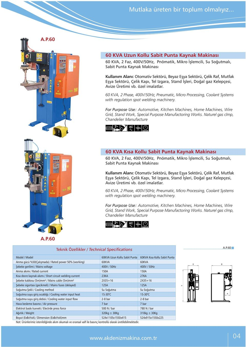 60 KVA, 2 Phase, 400V/50Hz, Pneumatic, Micro Processing, Coolant Systems with regulation spot welding machinery. Grid, Stand Work, Special Purpose Manufactoring Works.
