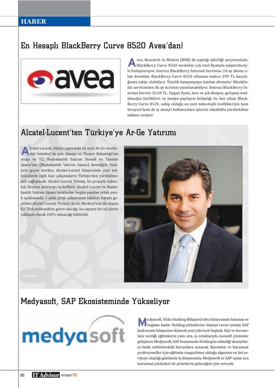A Alcatel-Lucent ten Türkiye ye
