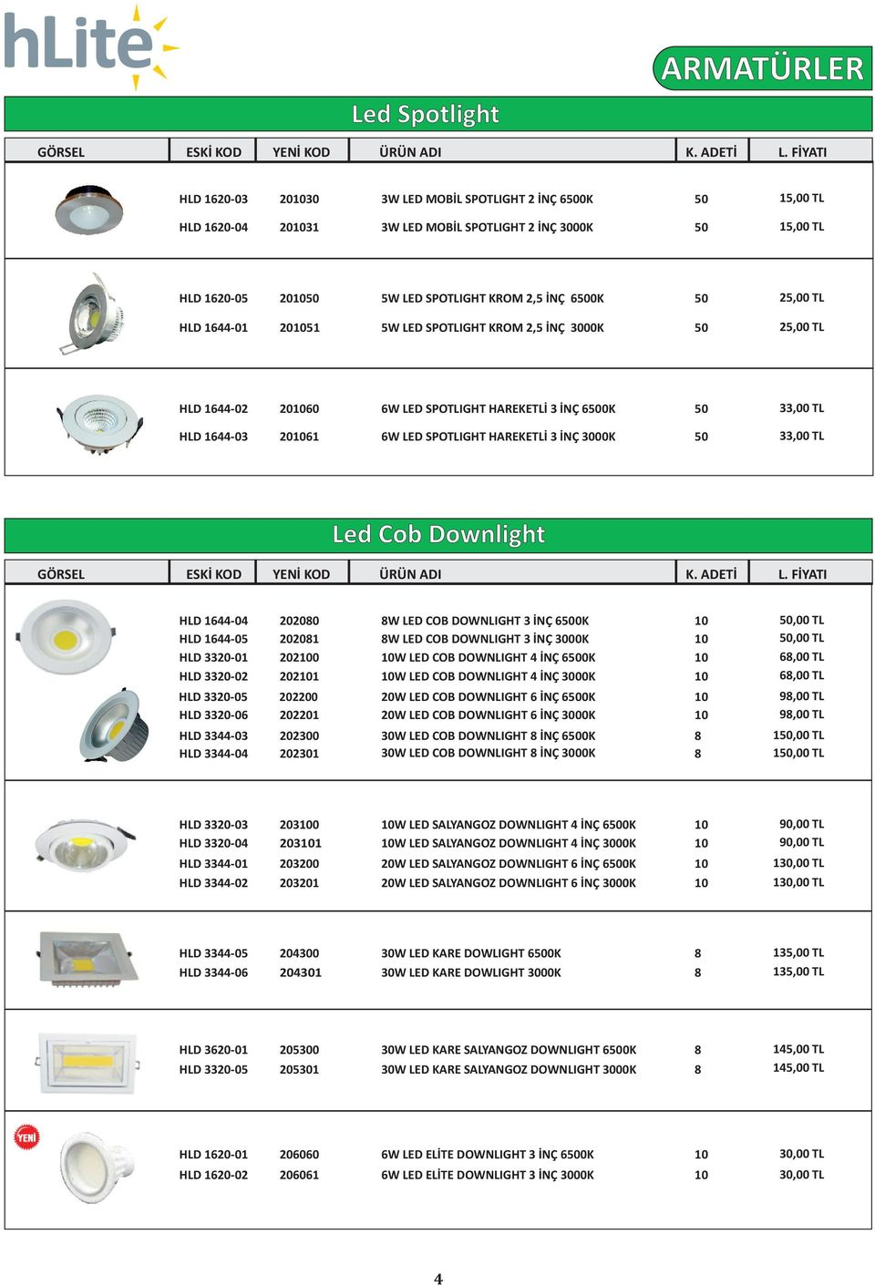 HLD 330-0 HLD 330-0 HLD 330-05 HLD 330-0 HLD 33-03 HLD 33-0 0080 008 00 0 000 00 0300 030 8W LED COB DOWNLIGHT 3 İNÇ 500K 8W LED COB DOWNLIGHT 3 İNÇ 3000K W LED COB DOWNLIGHT İNÇ 500K W LED COB
