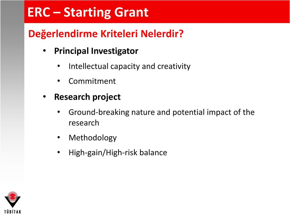 Commitment Research project Ground-breaking nature and