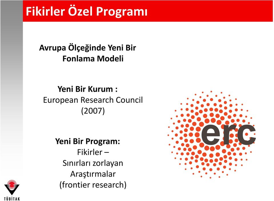 Research Council (2007) Yeni Bir Program: