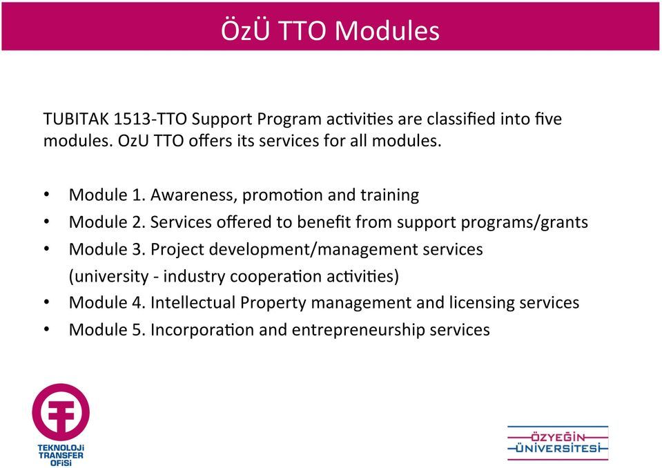 Services offered to benefit from support programs/grants Module 3.