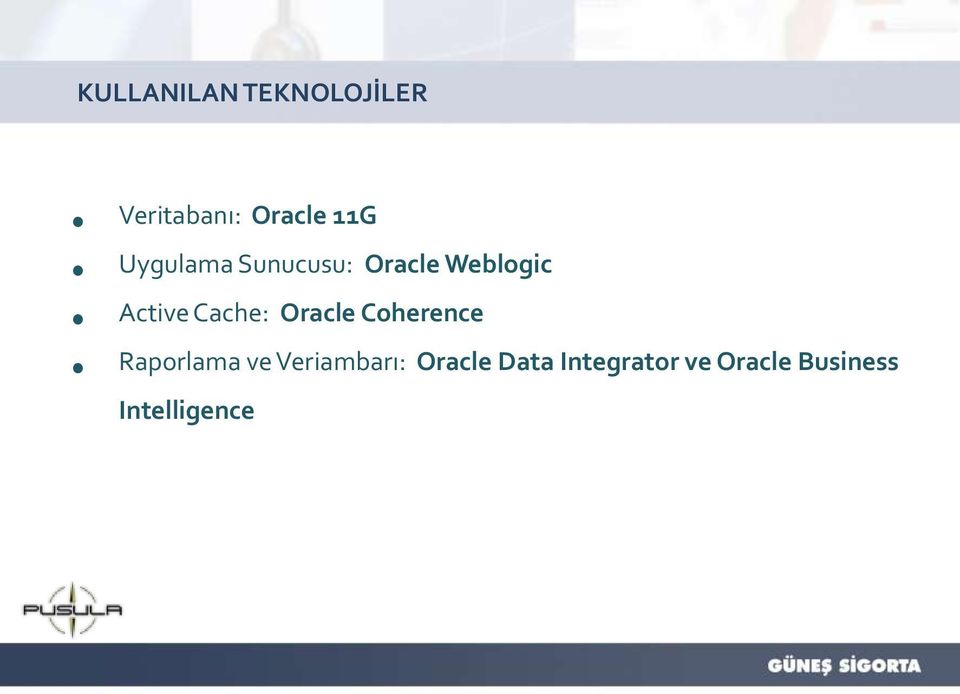 Cache: Oracle Coherence Raporlama ve