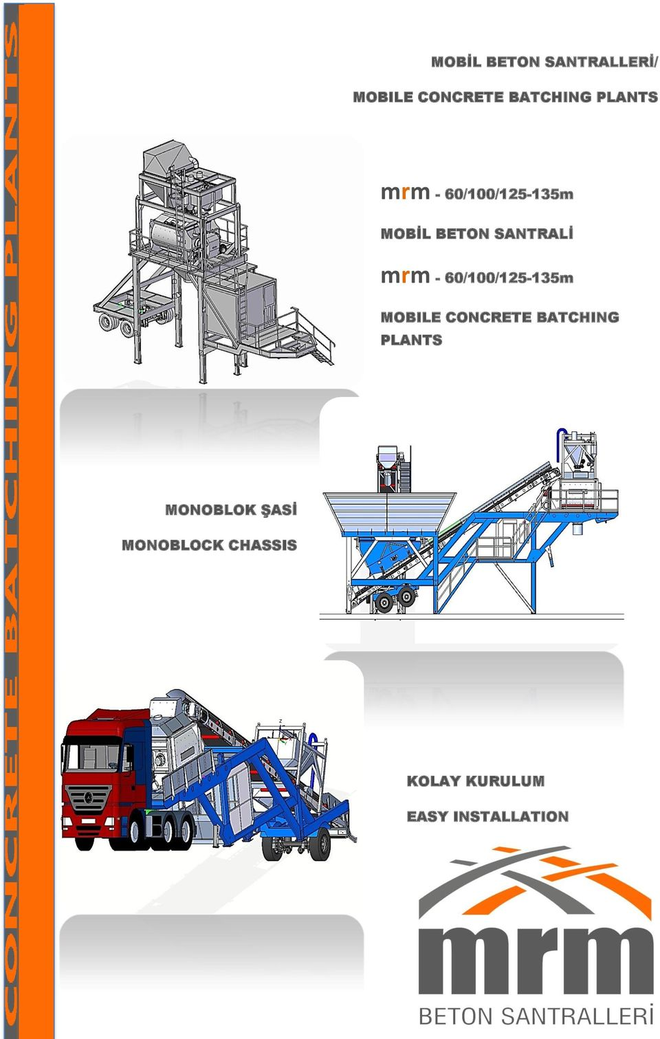 - 60/100/125-135m MOBILE CONCRETE BATCHING PLANTS