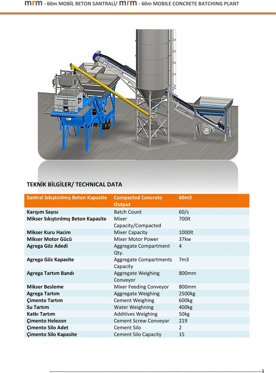 Agrega Göz Kapasite Aggregate Compartments 7m3 Capacity Agrega Tartım Bandı Aggregate Weighing 800mm Conveyor Mikser Besleme Mixer Feeding Conveyor 800mm Agrega Tartım Aggregate Weighing 2500kg