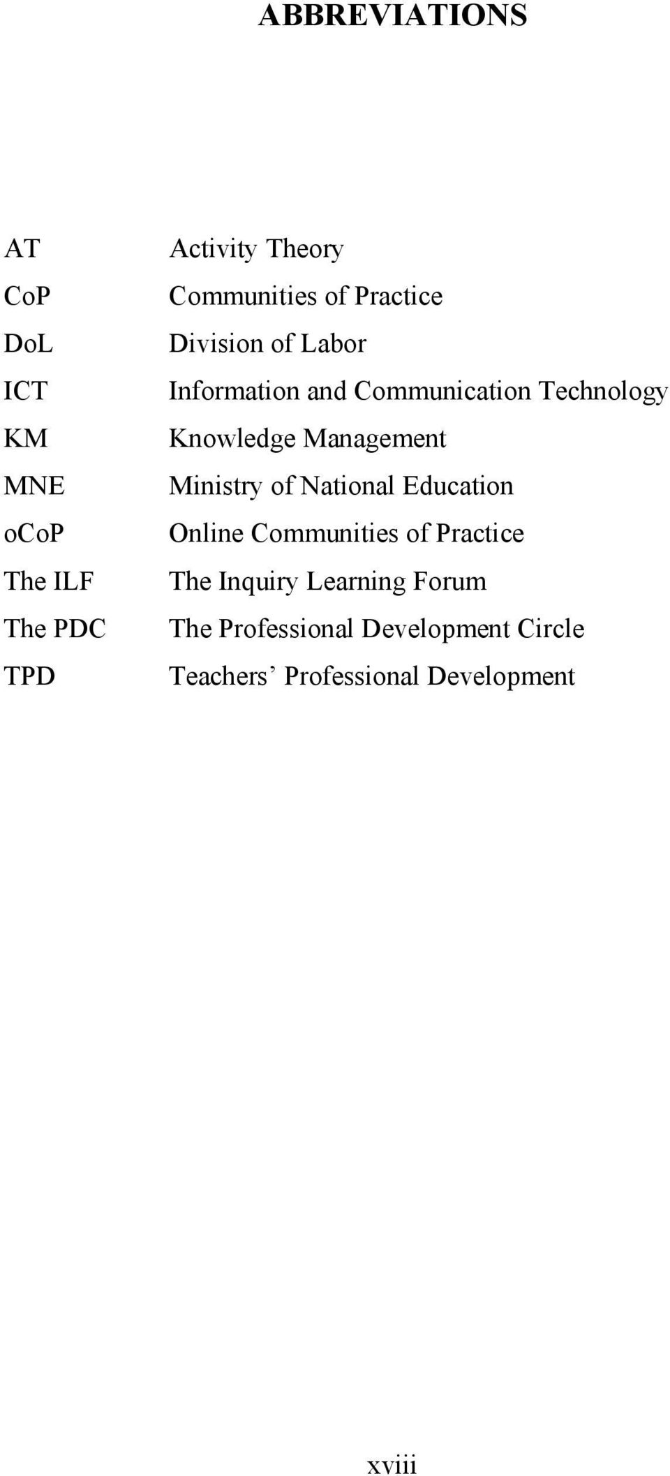 Knowledge Management Ministry of National Education Online Communities of Practice The