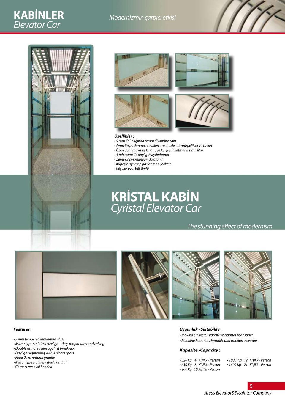 effect of modernism Features : 5 mm tempered laminated glass Mirror type stainless steel grouting, mopboards and ceiling Double armored film against break-up, Daylight lightening with 4 pieces spots