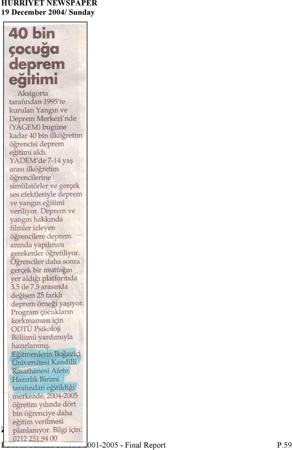NEWSPAPER BDA in Turkish