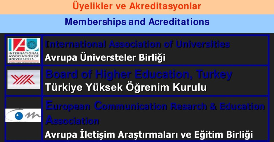 Education, Turkey Türkiye Yüksek Öğrenim Kurulu European Communication