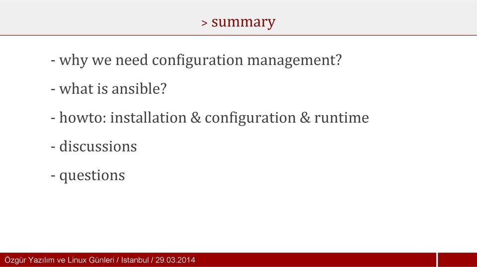 - howto: installation & configuration & runtime -