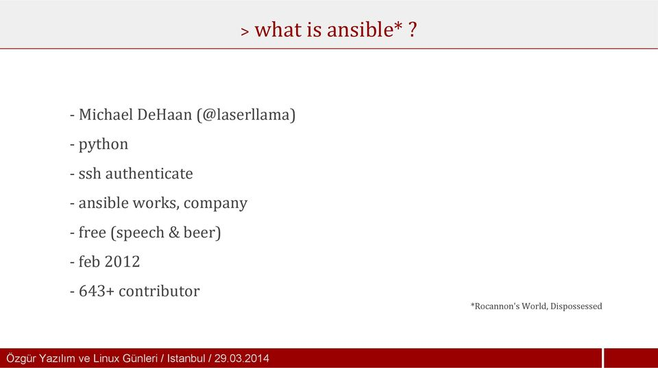ansible works, company - free (speech & beer) - feb 2012-643+