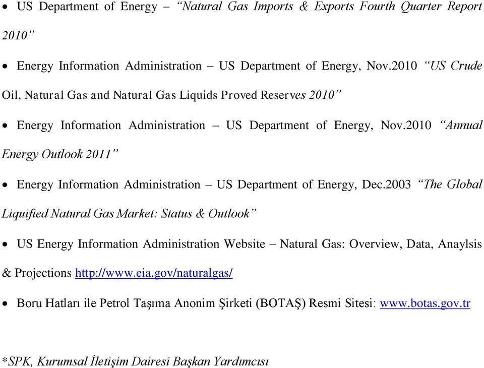 2010 Annual Energy Outlook 2011 Energy Information Administration US Department of Energy, Dec.