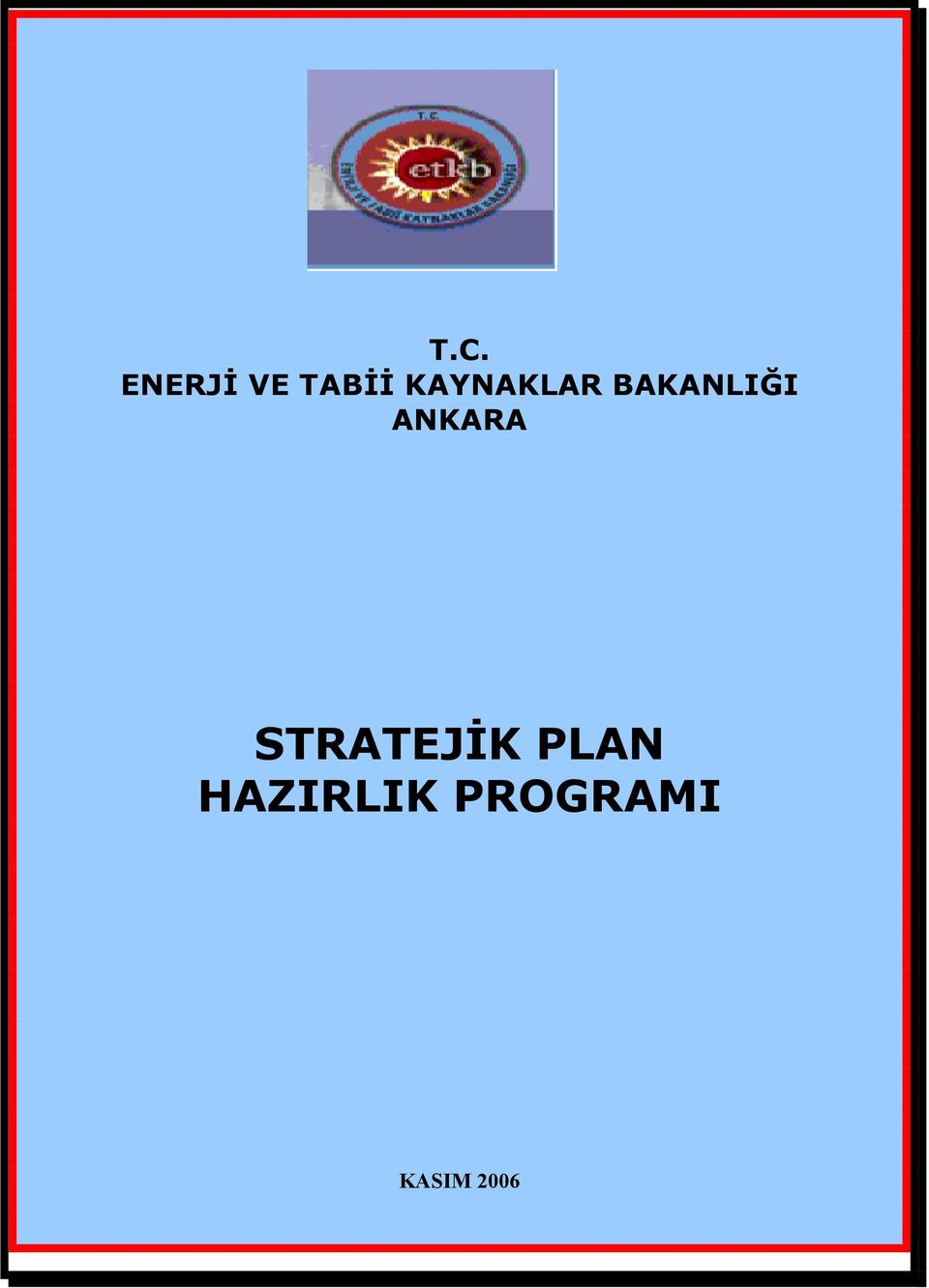 ANKARA STRATEJ K PLAN