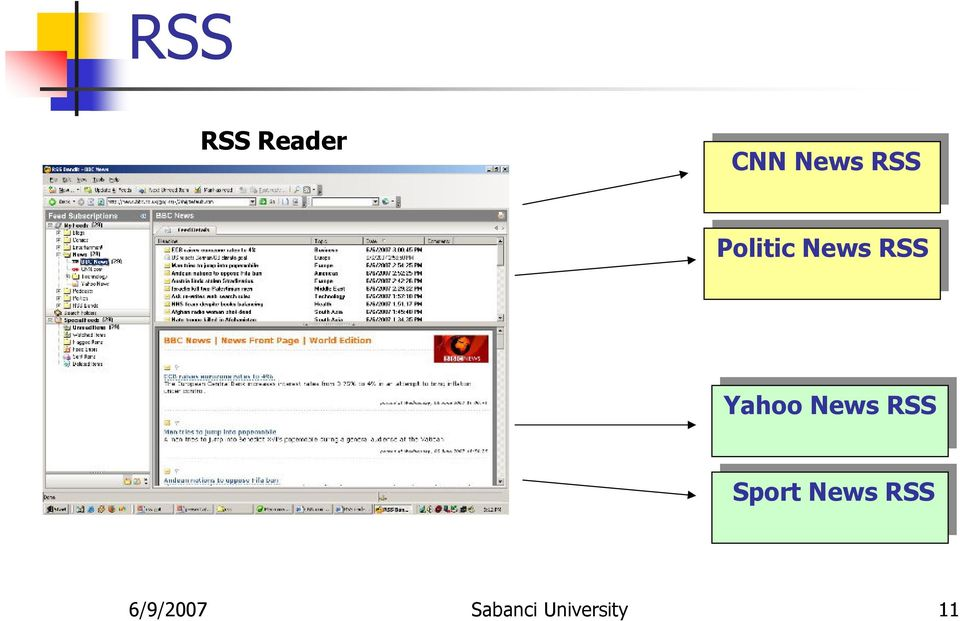 News RSS Yahoo News RSS Sport News RSS