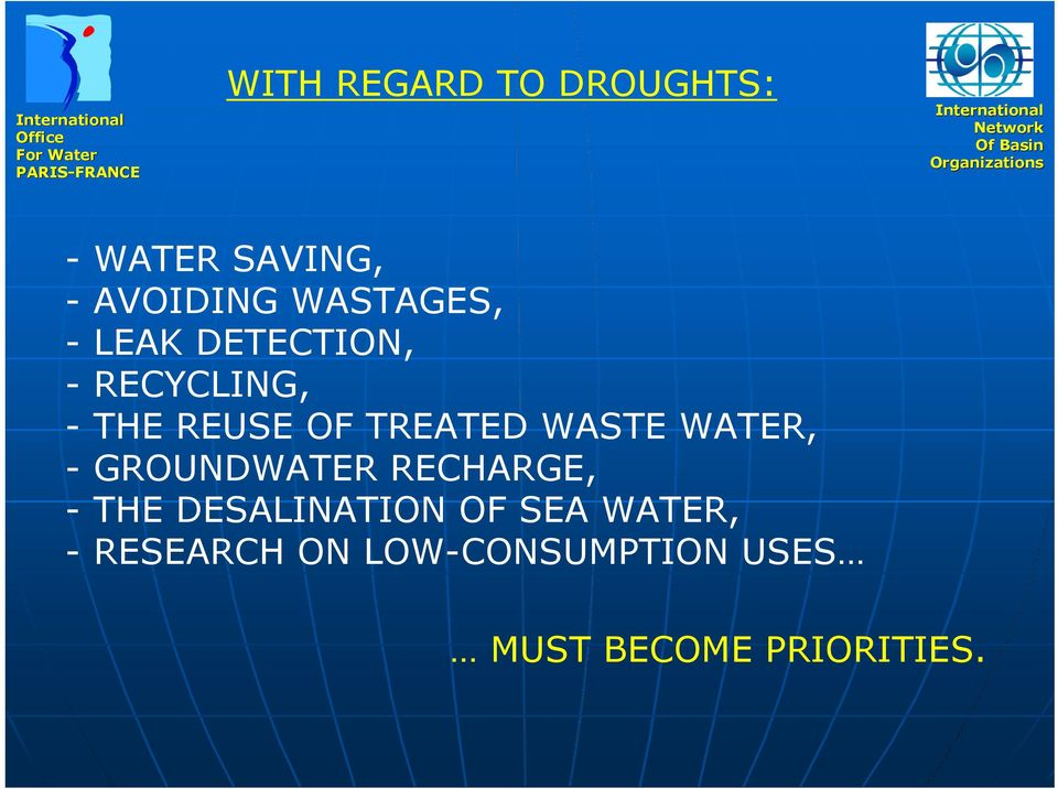 TREATED WASTE WATER, - GROUNDWATER RECHARGE, - THE
