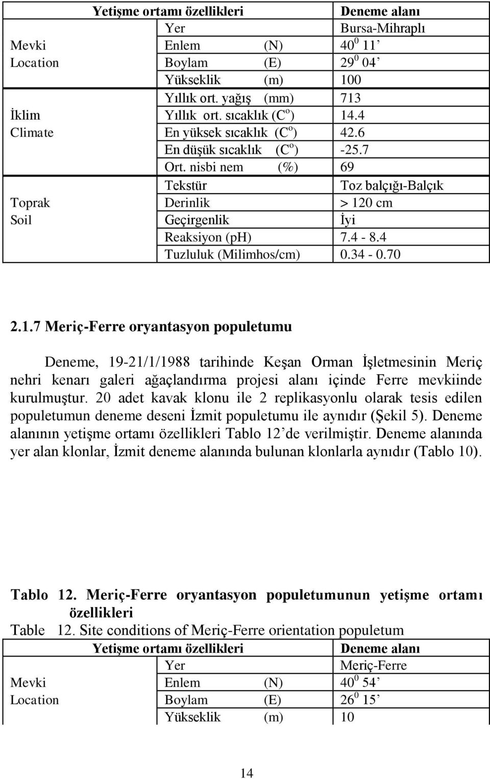 4 Tuzluluk (Milimhos/cm) 0.34-0.70 2.1.