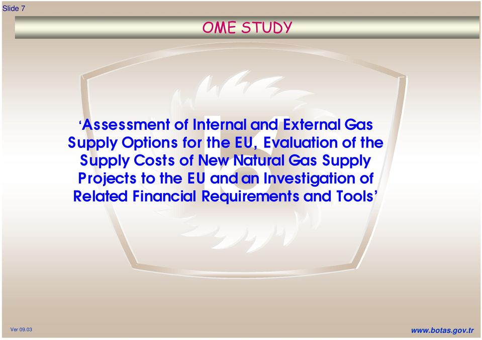 Costs of New Natural Gas Supply Projects to the EU and