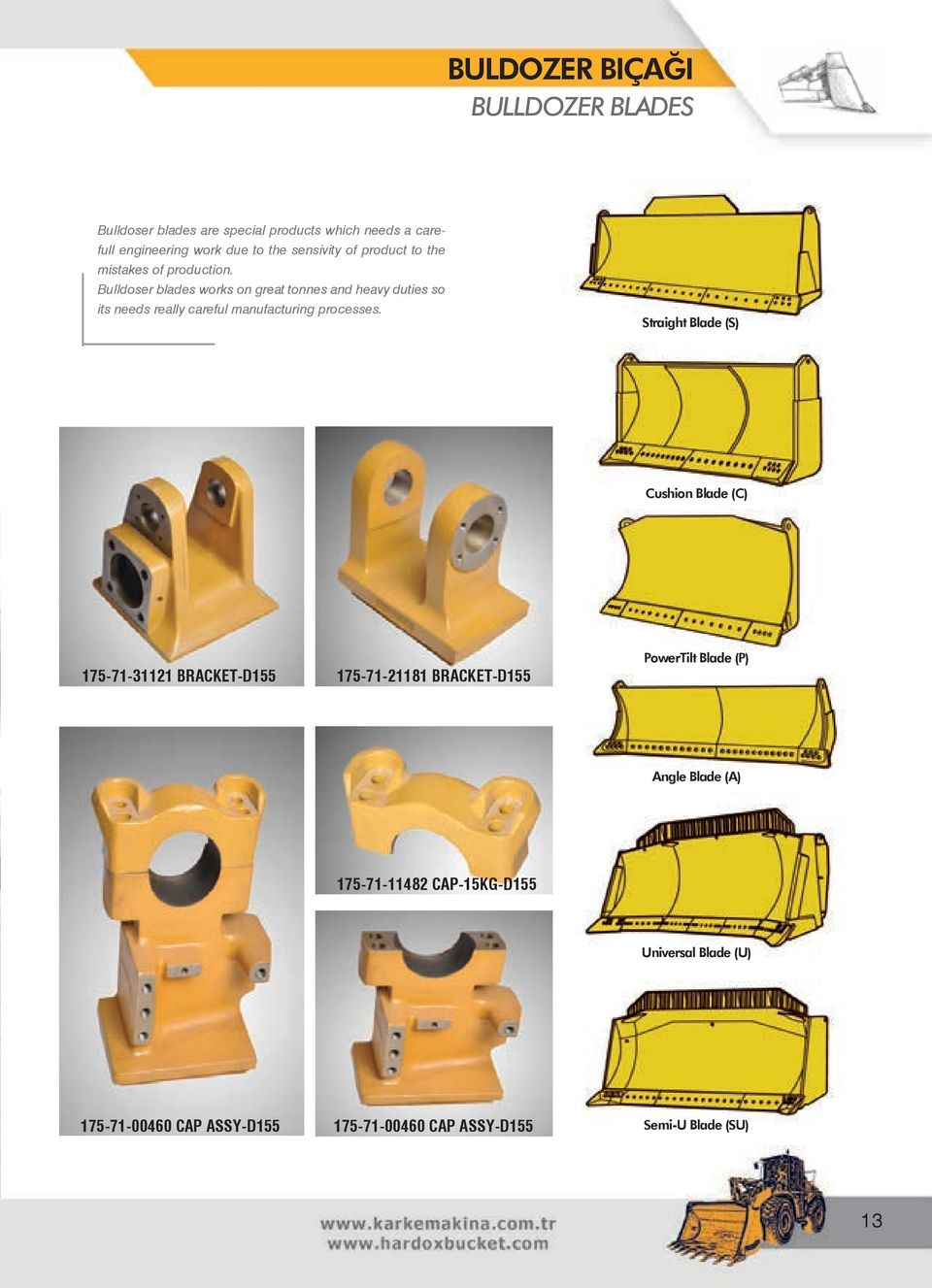 Bulldoser blades works on great tonnes and heavy duties so its needs really careful manufacturing processes.
