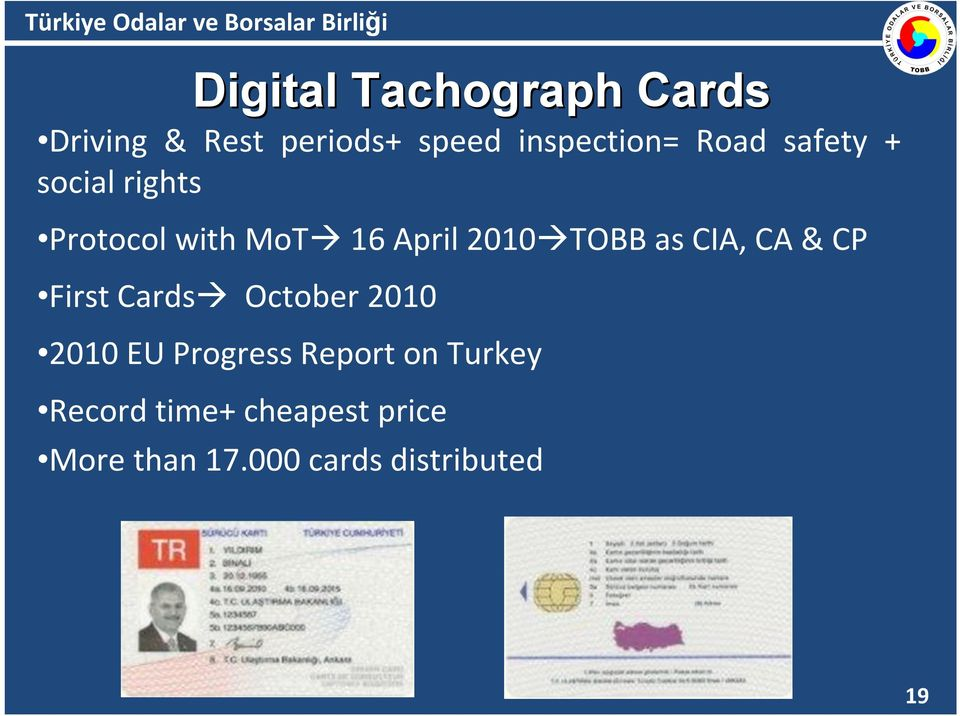CIA, CA & CP First Cards October 2010 2010 EU Progress Report on