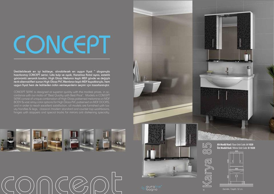 CONCEPT SERIE is designed at superior quality with the modest prices, in accordance with our motto of Best Quality with Best Price.