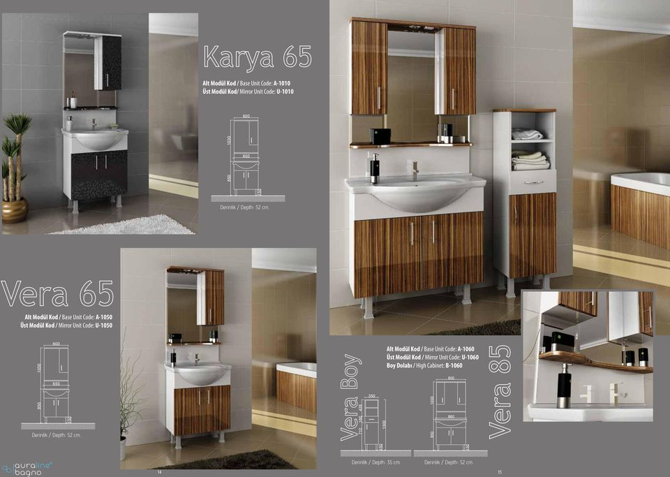 Kod / Base Unit Code: A1060 Üst Modül Kod / Mirror Unit Code: U1060 Boy Dolabı /