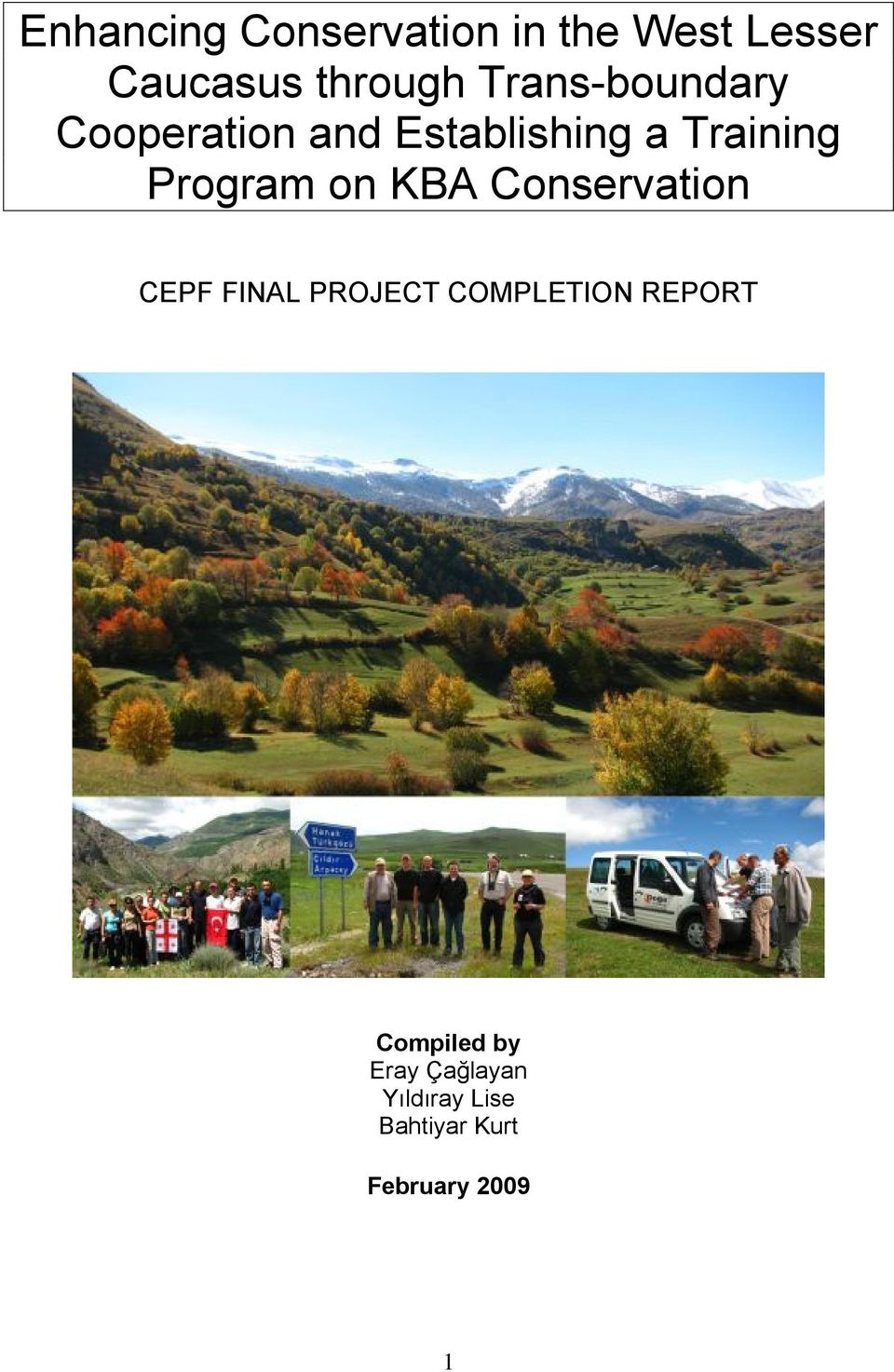 Program on KBA Conservation CEPF FINAL PROJECT COMPLETION
