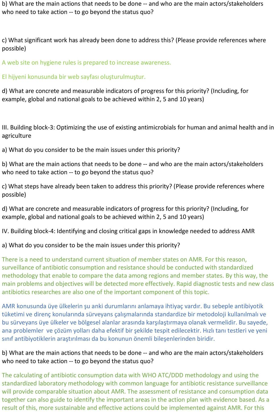 Building block-3: Optimizing the use of existing antimicrobials for human and animal health and in agriculture c) What steps have already been taken to address this priority?