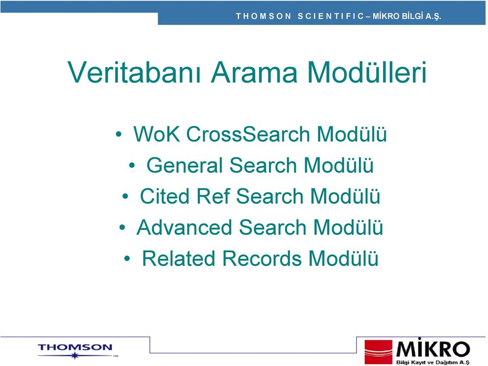 Modülü Cited Ref Search Modülü