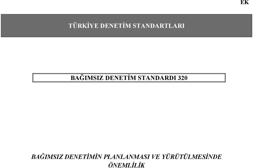 STANDARDI 320 BAĞIMSIZ