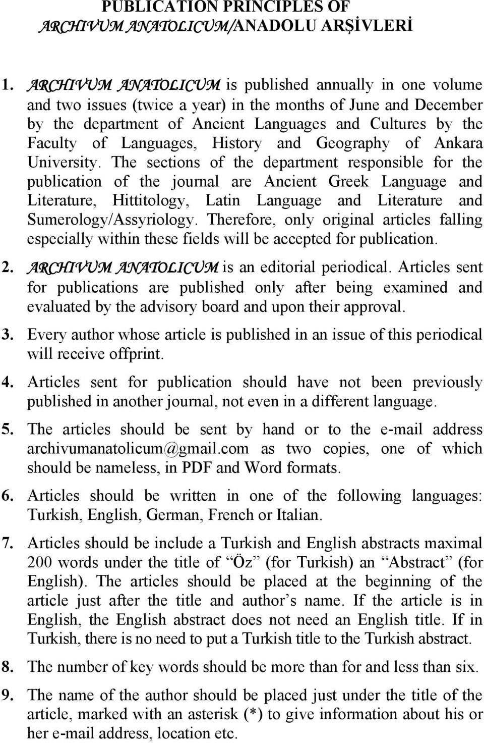 Languages, History and Geography of Ankara University.