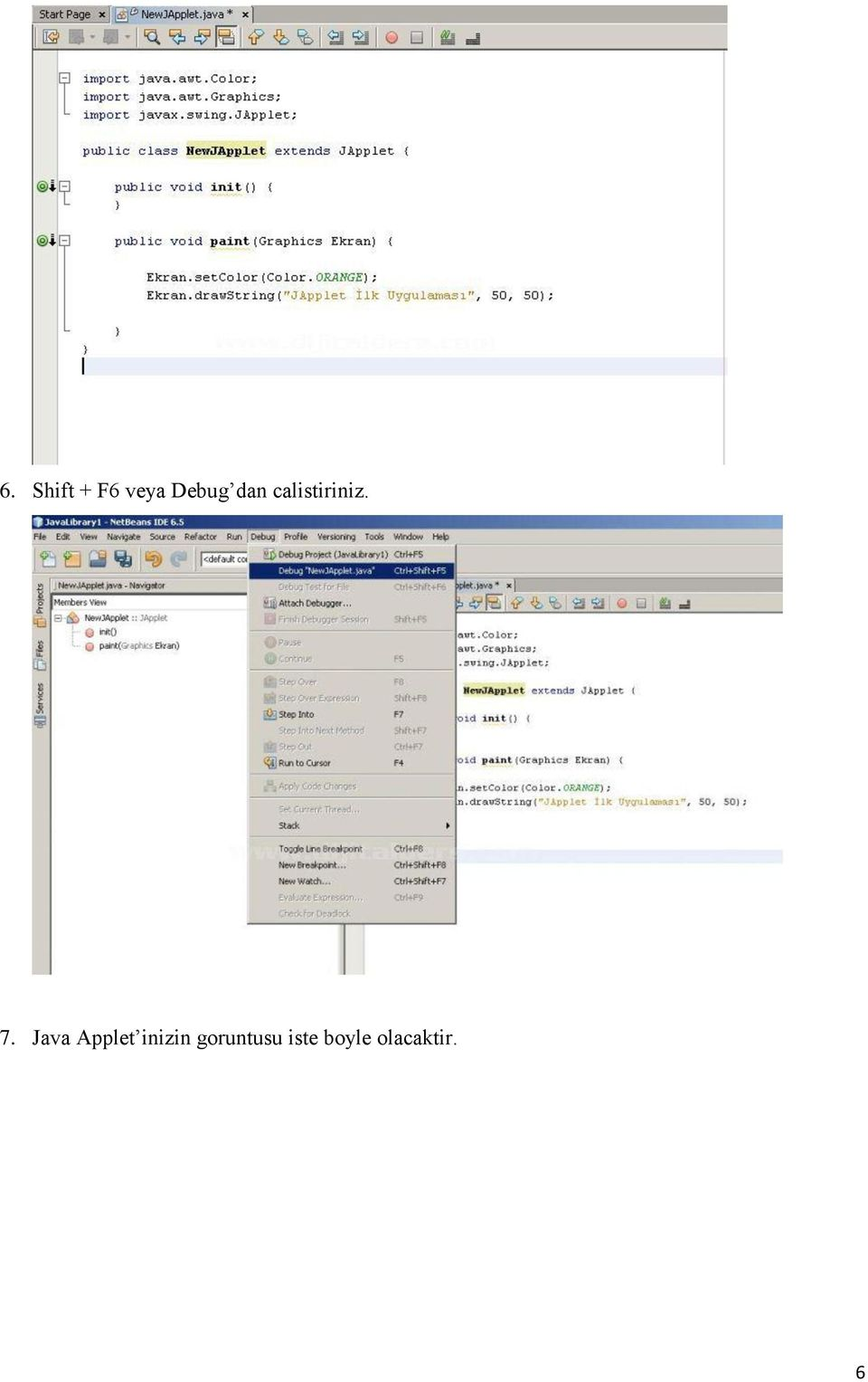 Java Applet inizin