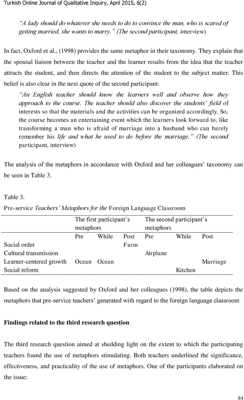 They explain that the spousal liaison between the teacher and the learner results from the idea that the teacher attracts the student, and then directs the attention of the student to the subject