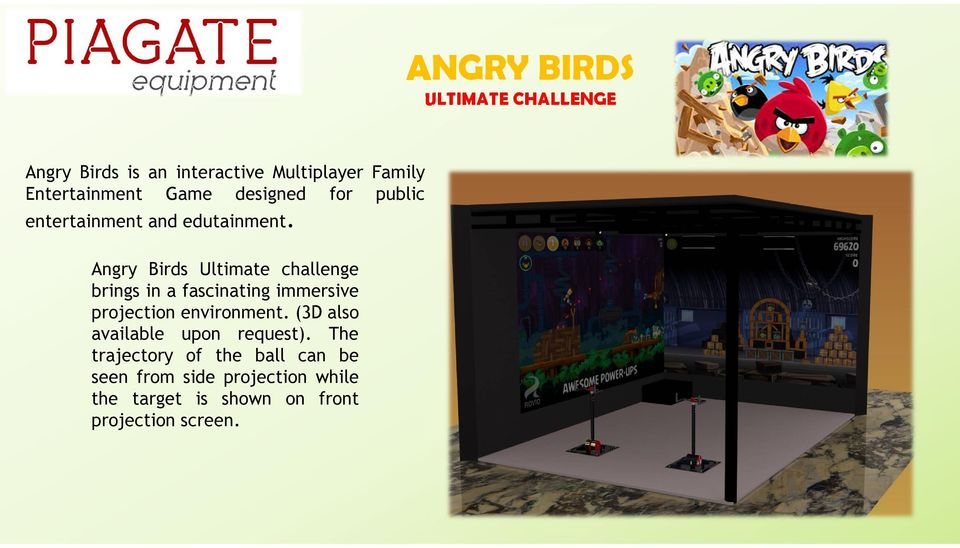 Angry Birds Ultimate challenge brings in a fascinating immersive projection environment.