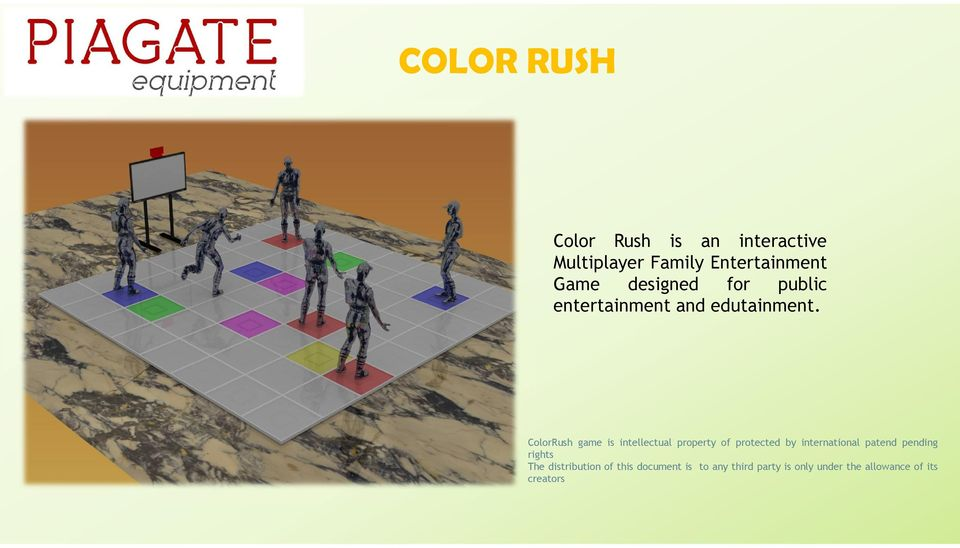 ColorRush game is intellectual property of protected by international patend