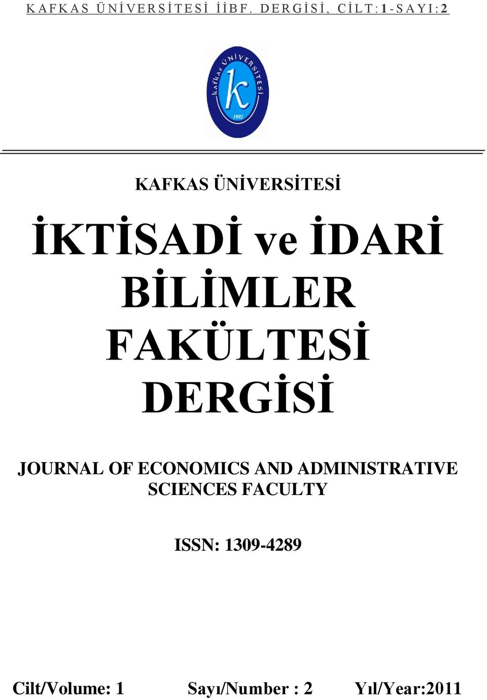 ECONOMICS AND ADMINISTRATIVE SCIENCES FACULTY