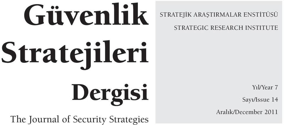 ARAfiTIRMALAR ENST TÜSÜ STRATEGIC RESEARCH
