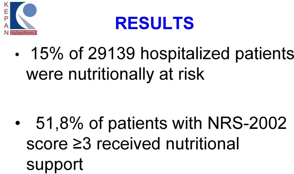 risk 51,8% of patients with