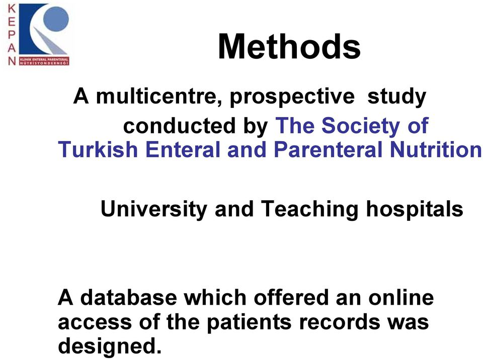 University and Teaching hospitals A database which