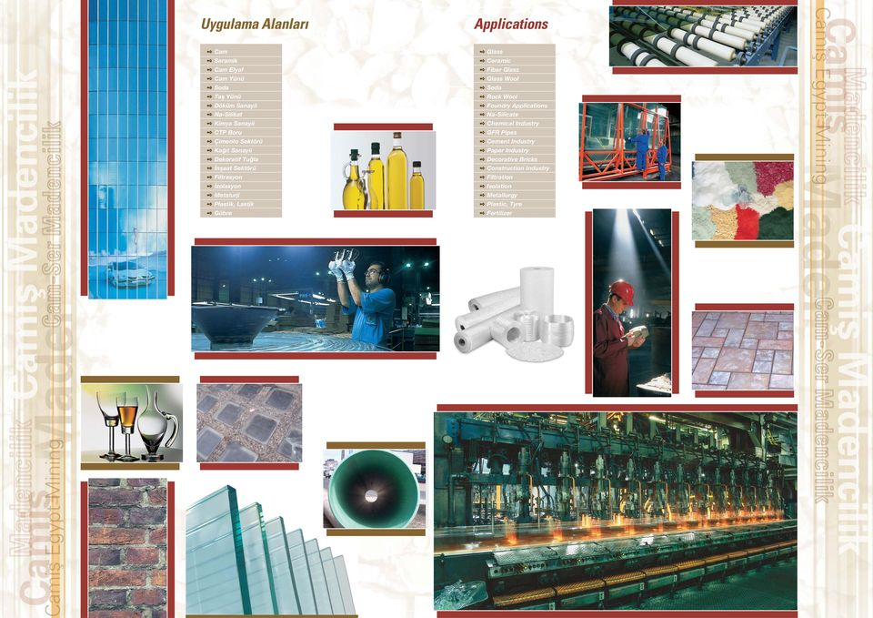 Glass Ceramic Fiber Glass Glass Wool Soda Rock Wool Foundry Applications Na-Silicate Chemical Industry GFR Pipes