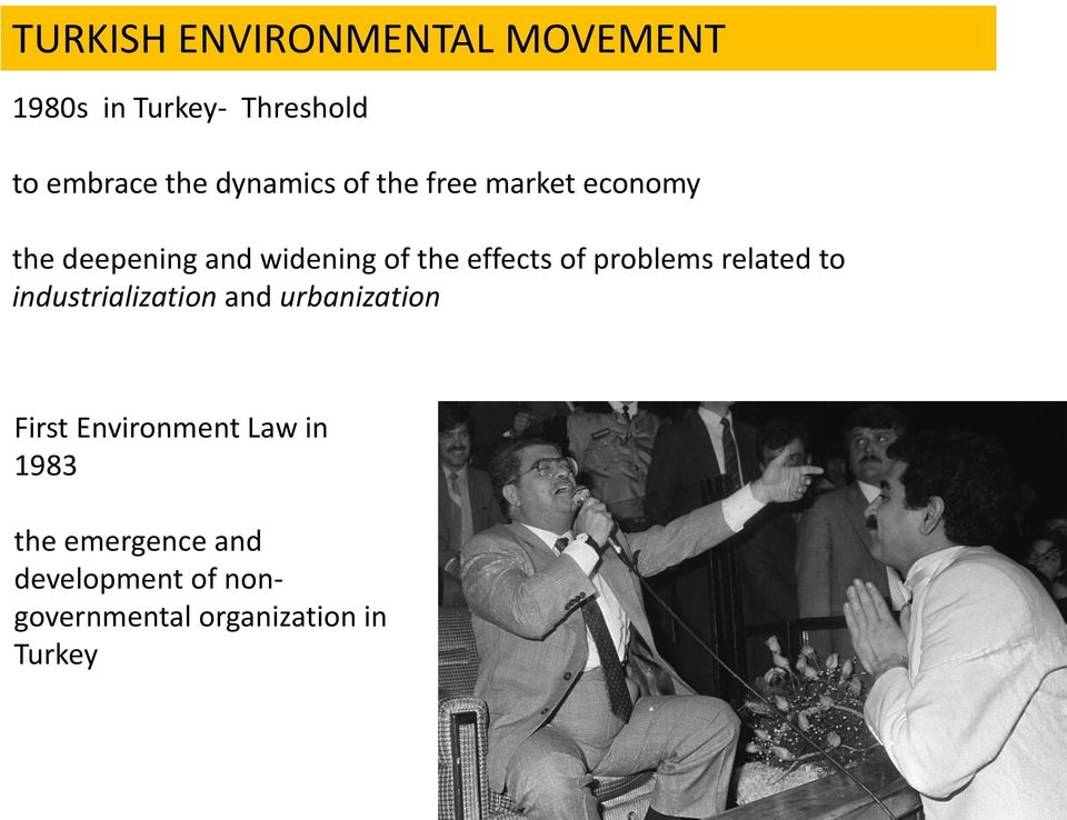 of problems related to industrialization and urbanization First Environment