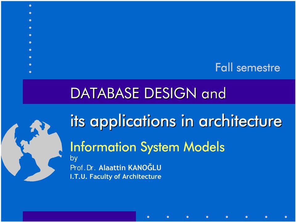 Information System Models by Prof.Dr.