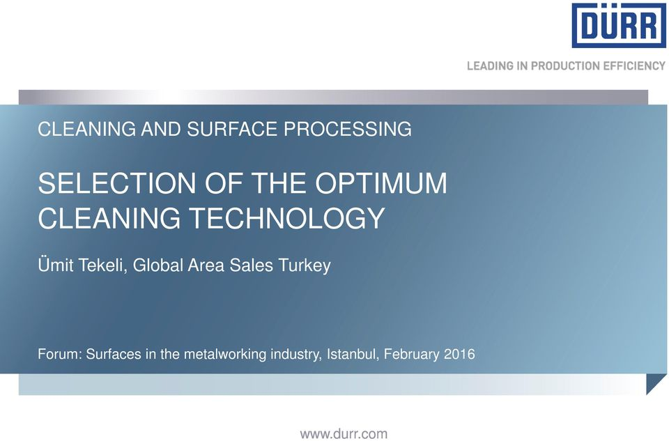 Area Sales Turkey Forum: Surfaces in the