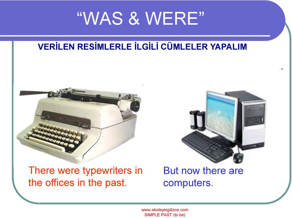 were typewriters in the offices