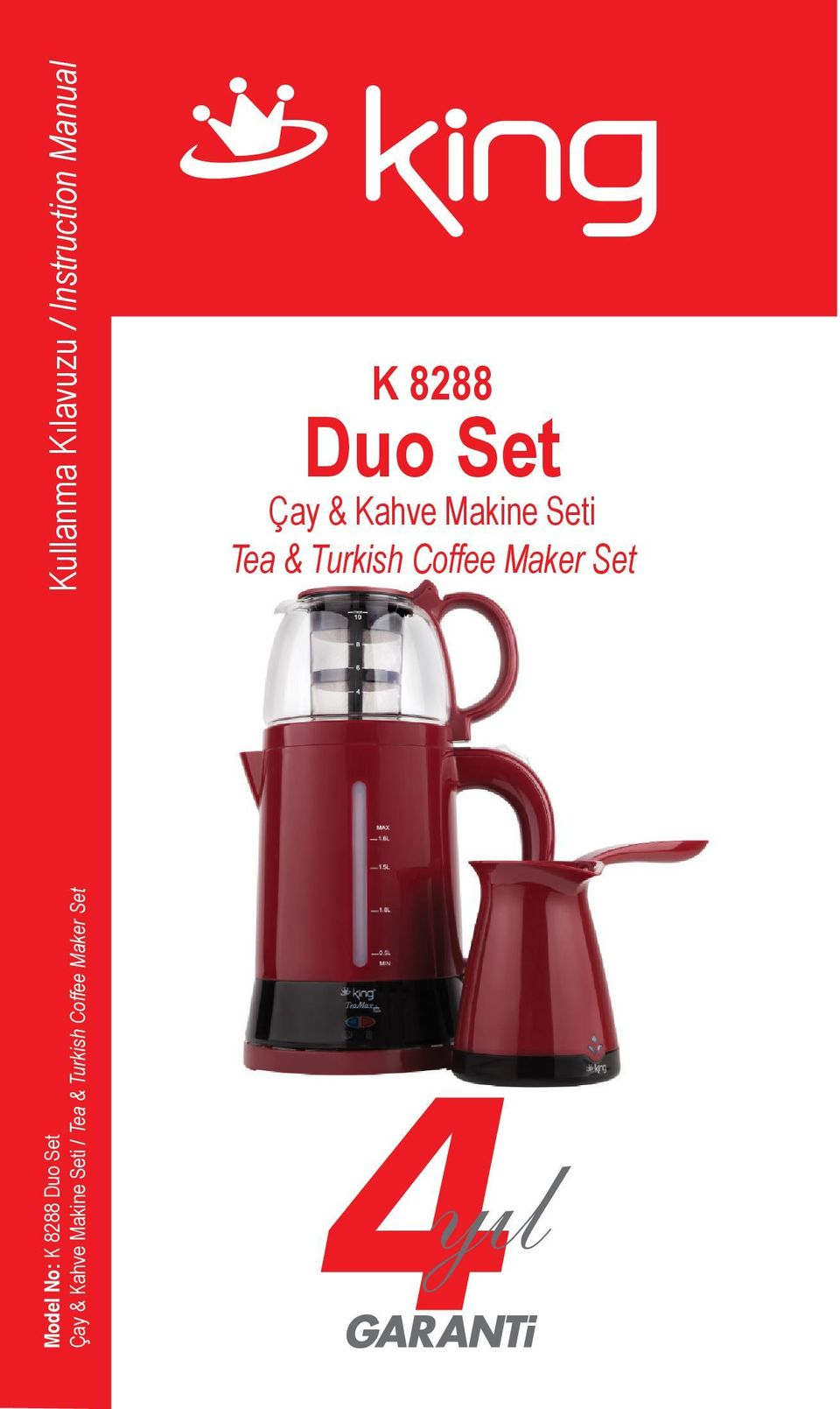 Kılavuzu / Instruction Manual K 8288 Duo Set