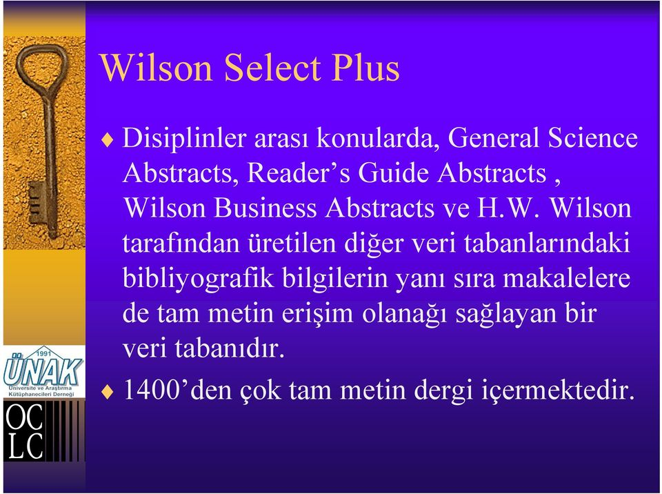 lson Business Abstracts ve H.W.