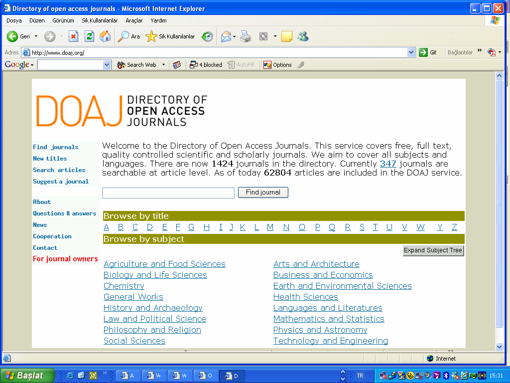 Directory of Open Access Journals 41.